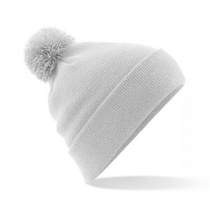 New College Stamford FA grey pom pom beanie
